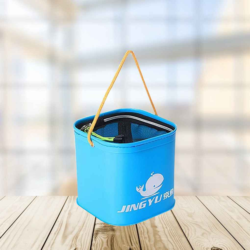 EVA New Collapsiable Durable Fish Bucket Water Pail for Fishing Camping Pail