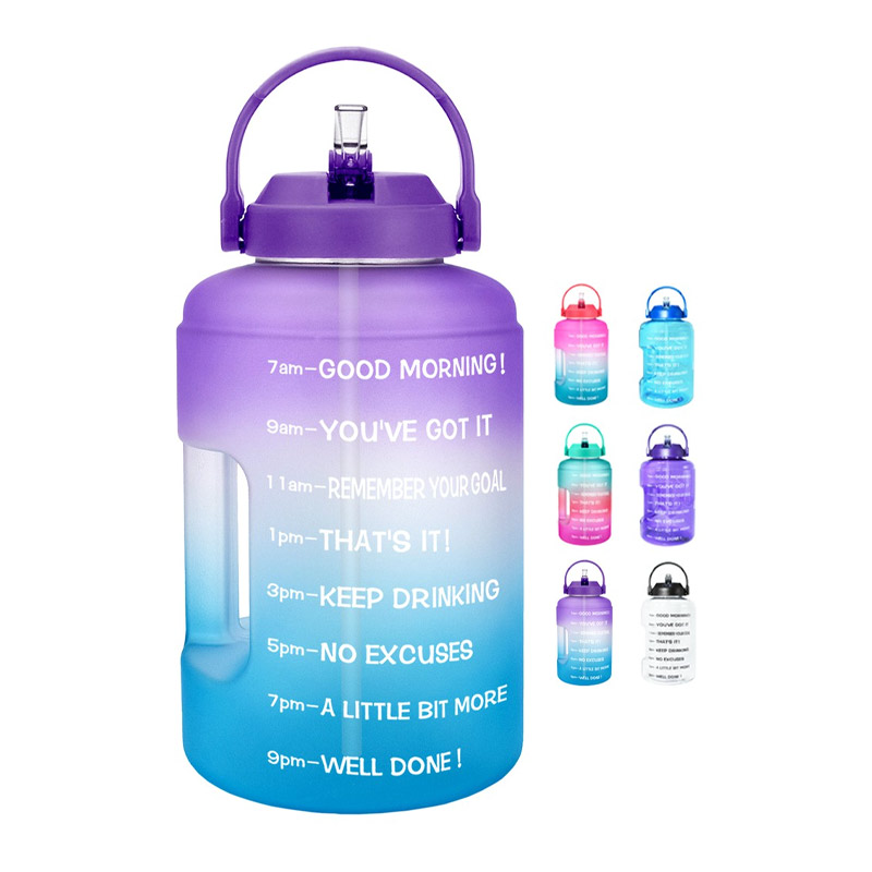 QuiFit ขวดแกลลอนน้ำ พร้อมหลอด ปากกว้าง พร้อมเครื่องหมายบอกเวลา ปราศจากสาร BPA ขนาด 3.78 ลิตร