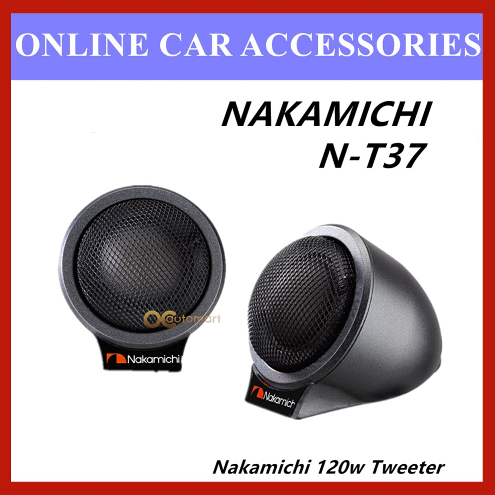 Nakamichi 30mm Tweeter 120W Neodymium Magnet Silk Dome Flush Mount Car Tweeter N-T37
