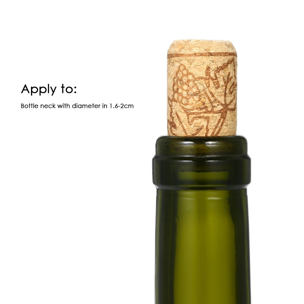 100pcs Wine Cork Functional Portable Sealing Reusable Wine Bottle Cover for Wine