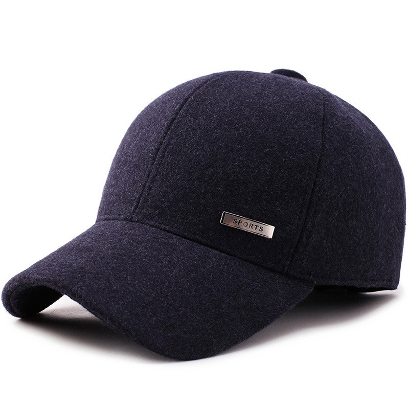 9fff9a5c3 New men's autumn and winter warm woolen baseball cap winter fashion sports  outdoor travel winter cap women