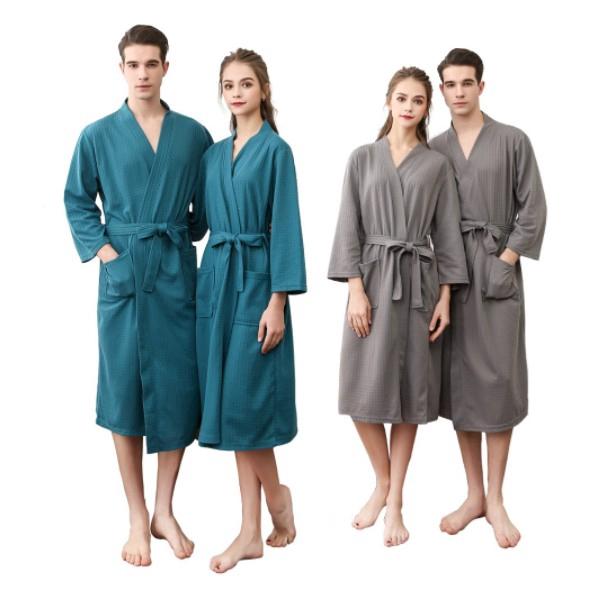 c88ae12321 Men Women Bath Robe Spring and Autumn Thin Terry Cloth Towel Bathrobe