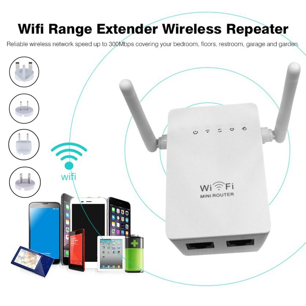 Range Extender WiFi Repeater Dual Antenna Network Router for Home Office   Shopee Malaysia