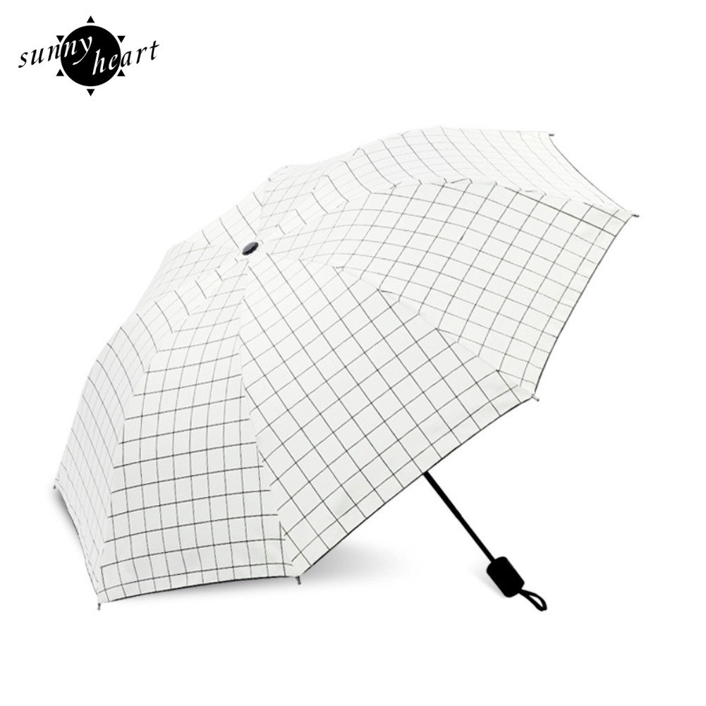 Black White Marble Floral fashion print cute Windproof automatic tri-fold umbrella sun UV protection Sun umbrella