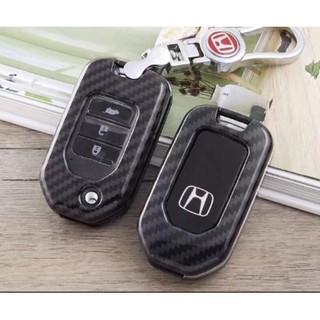 Honda City Crv Accord Keyless Remote Car Key Carbon Case Cover