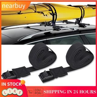 1 Pair Tie Down Straps Dorsal Surfboard Kayak Surf Roof Rack Set Outdoor Bike