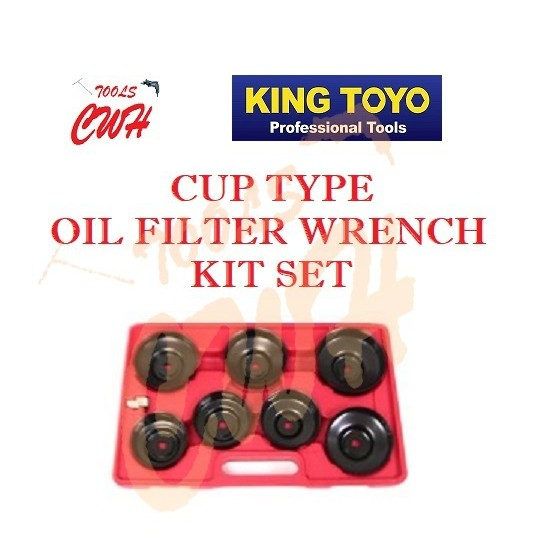 KING TOYO JTCFW-15K 15PCS JTCFW-30K 30PCS CUP TYPE OIL FILTER WRENCH KIT SET