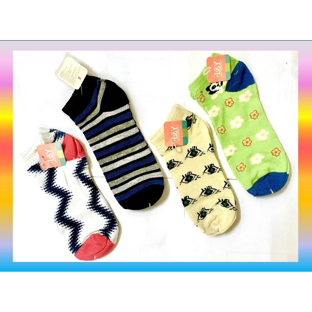 Fashion Women Girl Short Cotton Socks Creative Design Soft Sports Casual Comfortable Mix Design