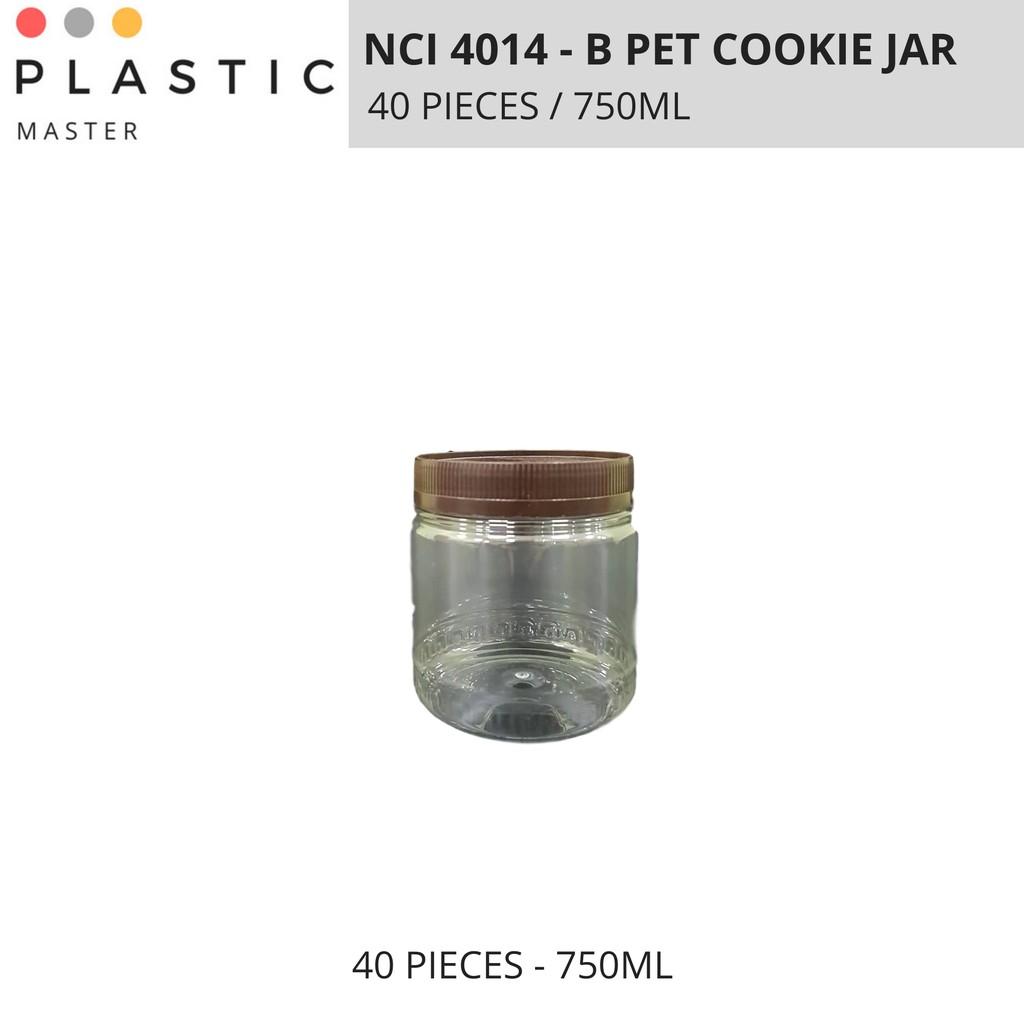 Cookie Jar, PET Container Brown NCI 4014-B (1 BAG 40 PIECES)