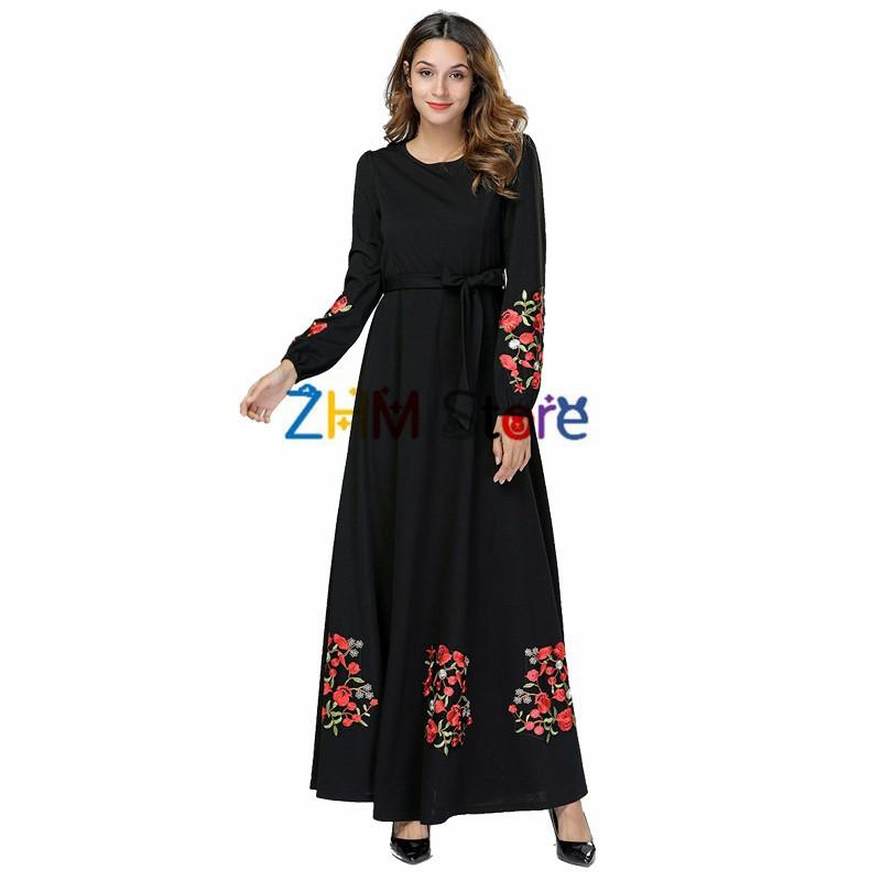 dc0b946793e8f Muslim Dress Women Elbise Turkish Islamic Clothing Robe Musulmane Longue  Dresses