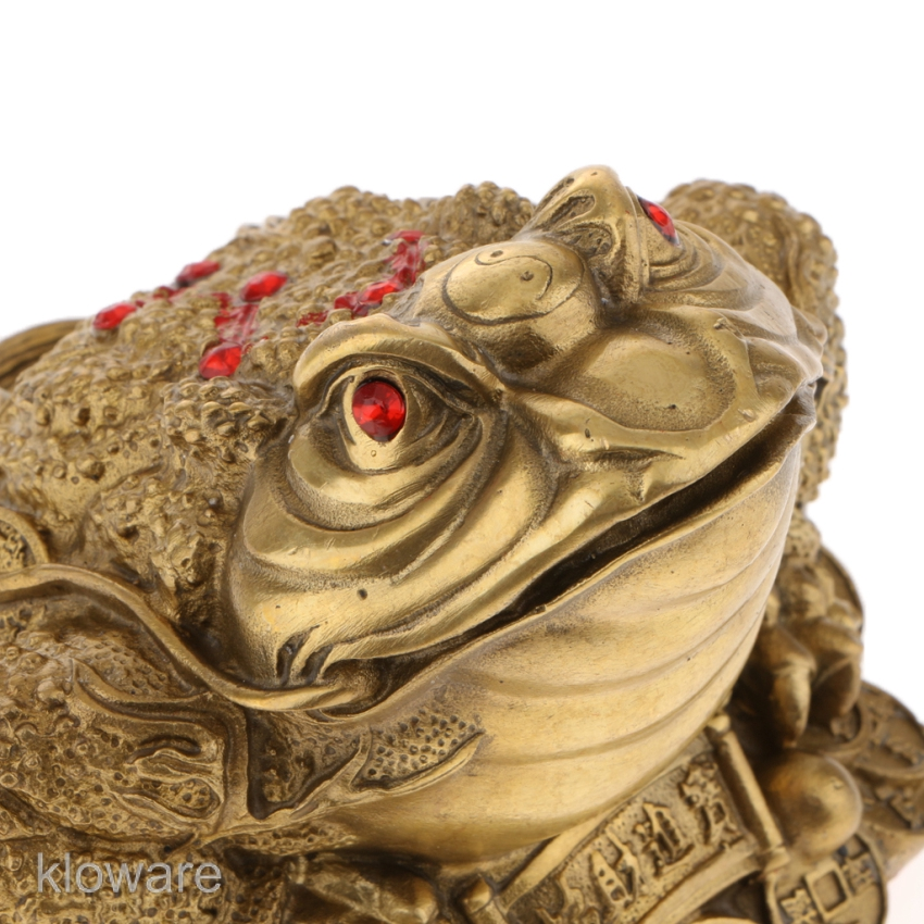 4 cm China Pure Bronze Copper Lovely Auspicious Animal Frog Lucky Statue