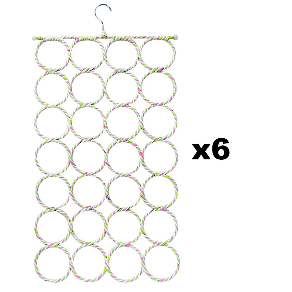 Scarf Hanger 28 Hole (6pcs)