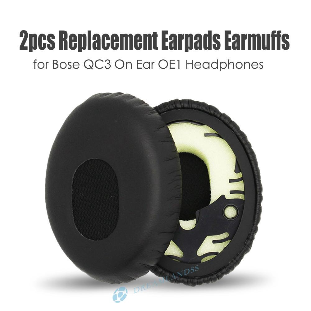 )xt( 1 Pair Replacement Earpads Earmuffs for Bose QC3 On Ear OE1 Headphones