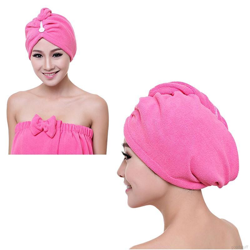 Hair Dry Coral Velvet Towel Hair Magic Drying Turban Wrap Hat Cap Spa Bathing Hot( Color Random) | Shopee Malaysia