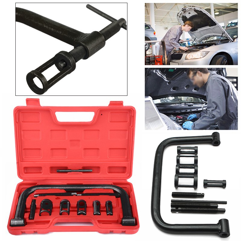 10pcs Valve Spring Compressor Tool Kit for Motorcycle Vehicle Petrol Engines