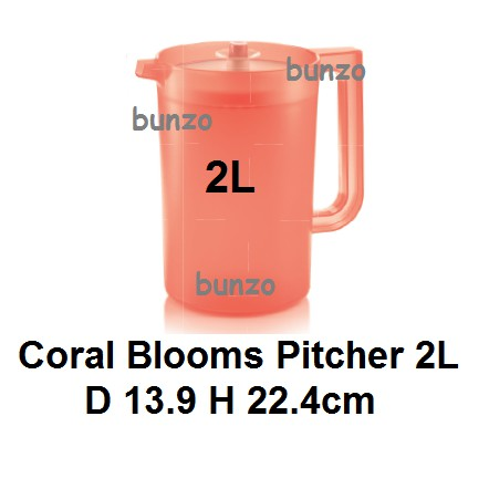 Tupperware Coral Blooms Pitcher 2L - 1pc