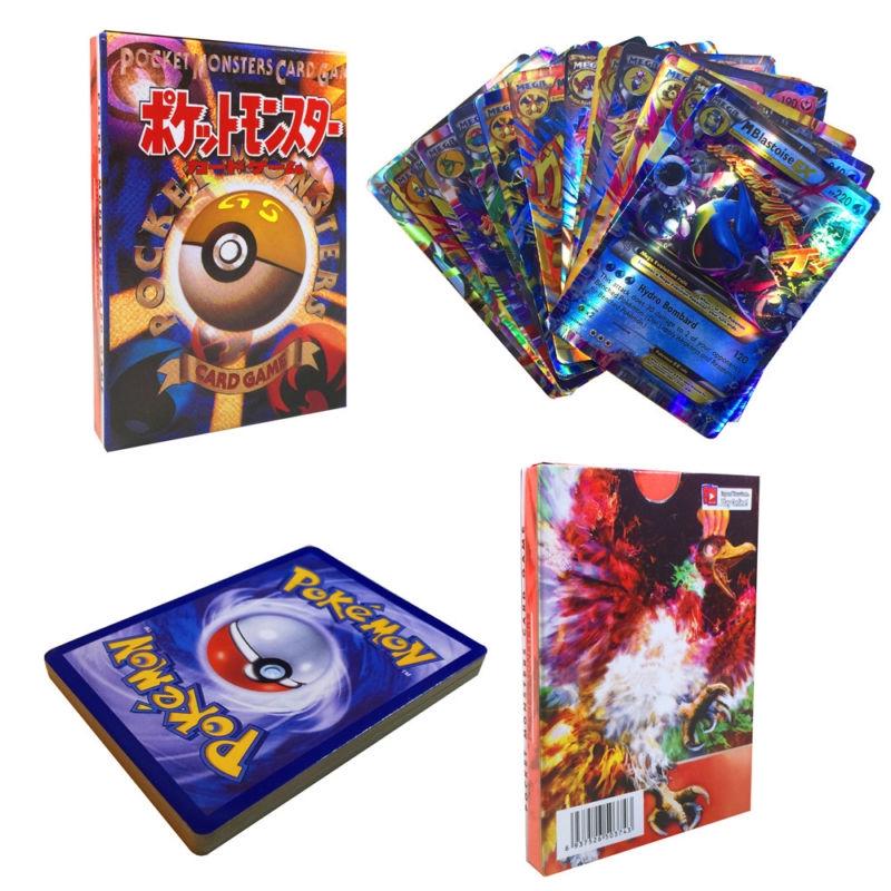 20pcs Pokemon EX Card All MEGA Holo Flash Trading Cards Charizard Venusaur