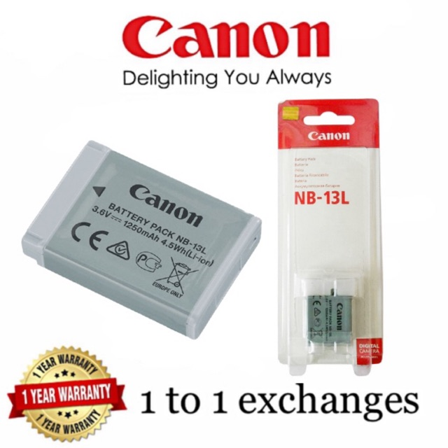 Canon NB13L original battery for G7X G7X mark ii original 1 years warranty