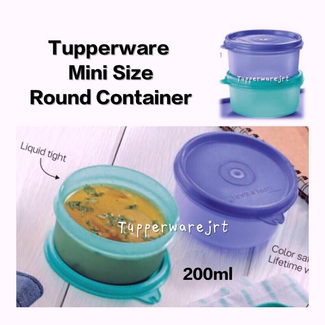 Tupperware Mini Size Small Round Container 200ml x 2pcs