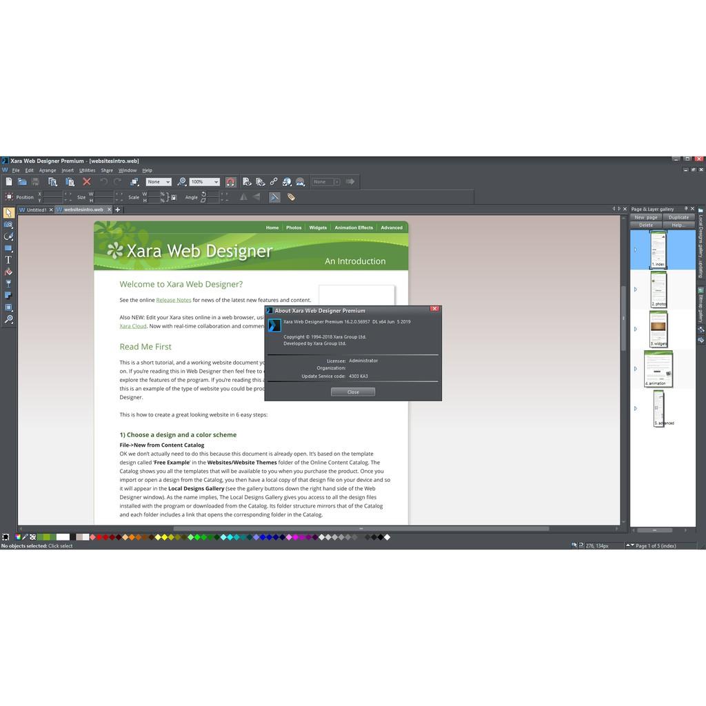 Hot Xara Web Designer Premium 16 2 Full Version Shopee Malaysia