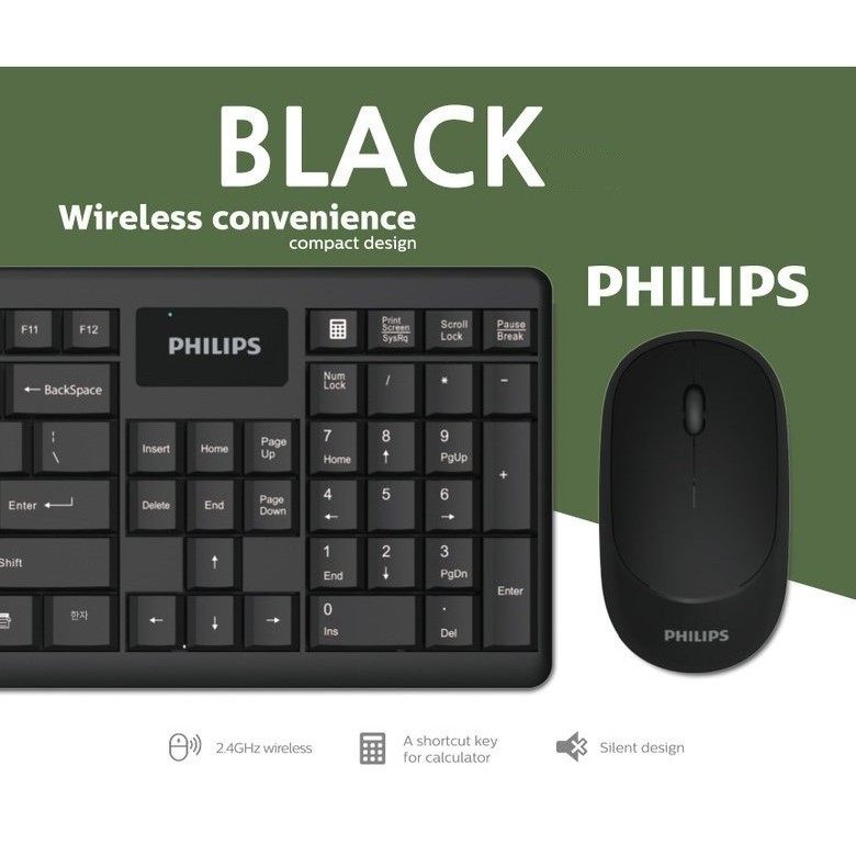 Philips Wireless Combo Mouse & Keyboard SPT6314
