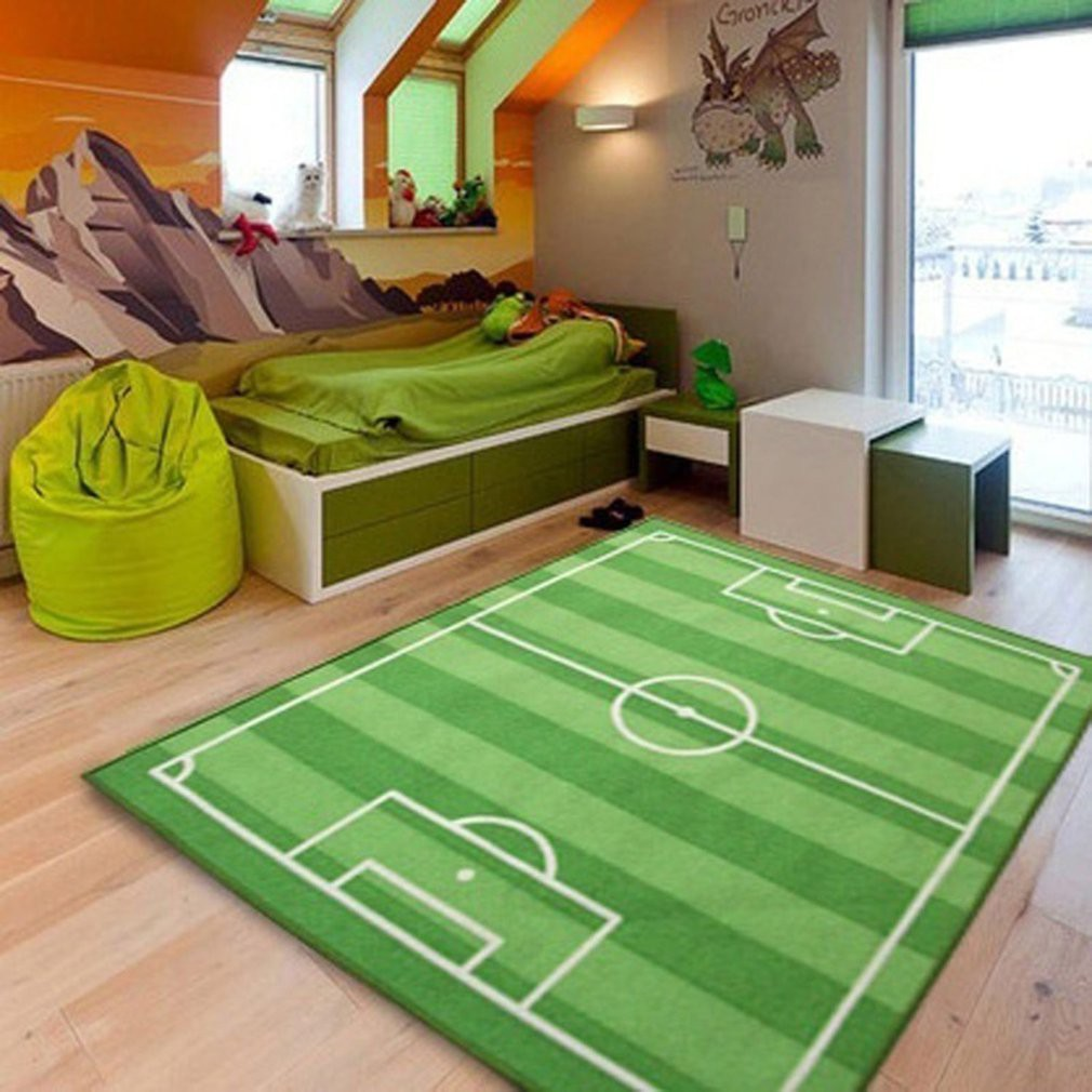 Football Soccer Field Carpet Children Crawling Play Mat Soft Pad Baby Kids Blanket Carpet Rug Living Room Bedroom Indoor