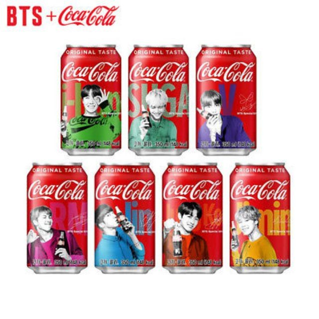 1 Korea Limited Edition Version BTS Coca Cola Can