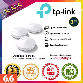 Pack of 3 Works with  Echo//Alexa Thick Wall TP-LINK Deco P9 Whole Home Powerline Mesh Wi-Fi System Parental Controls Up To 6000 Sq ft coverage Wi-Fi Booster Refurbished