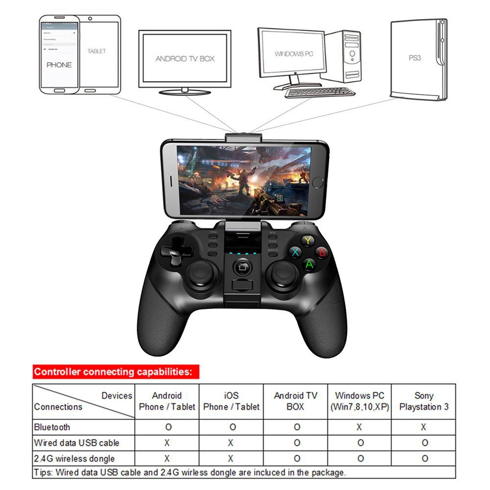 iPega PG-9076 9076 3in1 Wireless Bluetooth Gamepad USB for Android