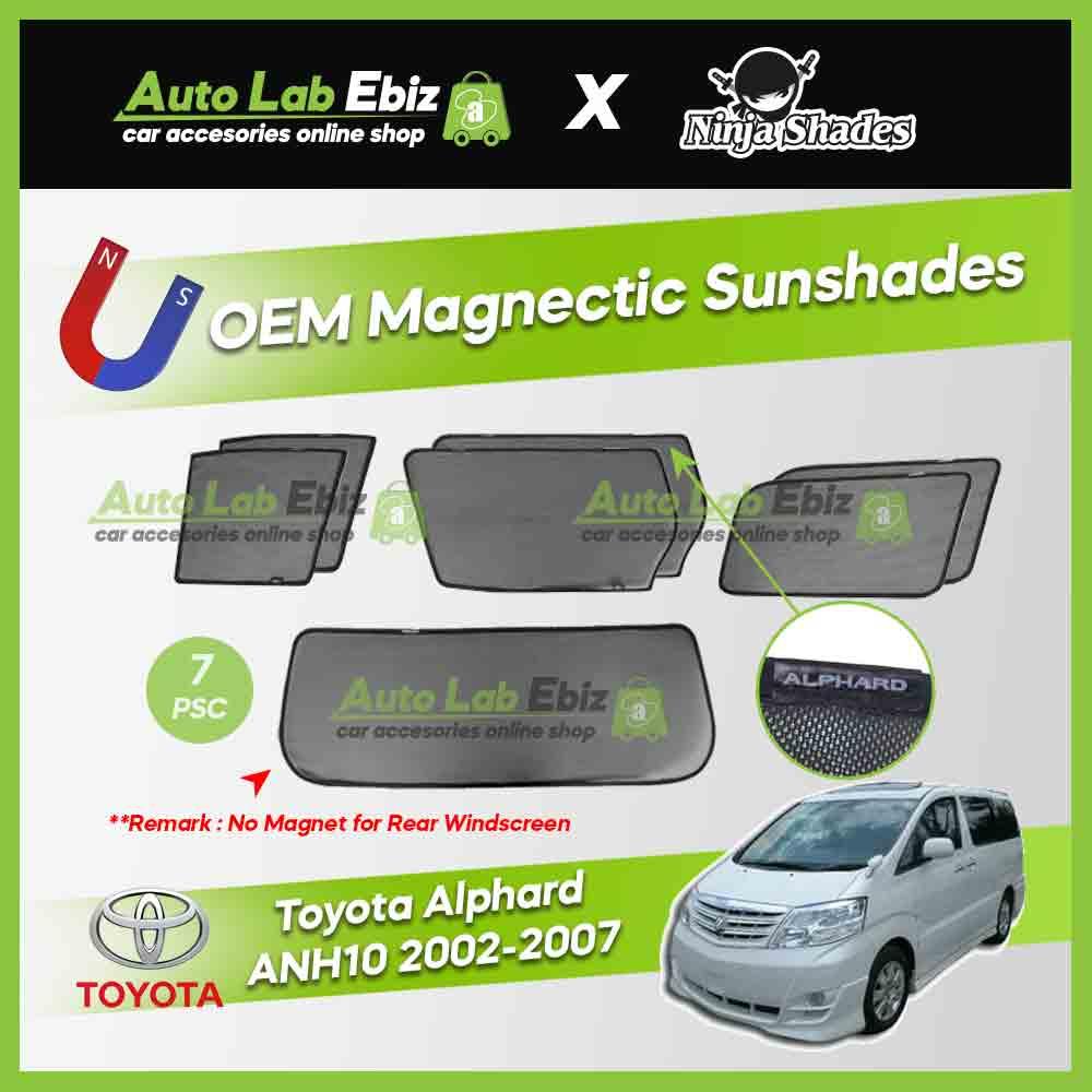 Toyota Alphard ANH10 Series 2002-2007 Ninja Shades OEM Magnetic Sunshade (7pcs)
