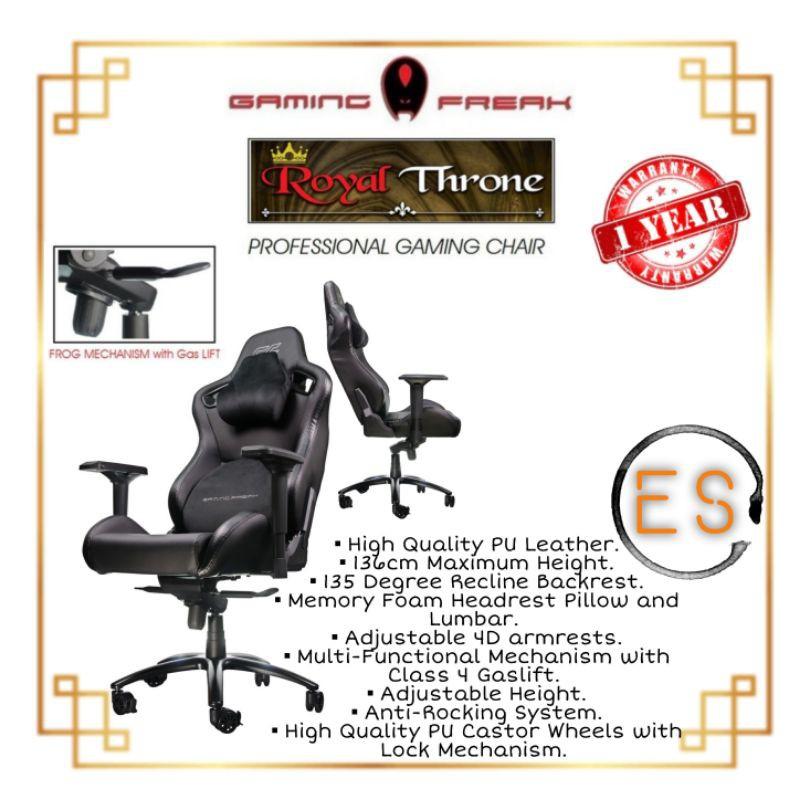 Gaming Freak GF-GCRT10-BK Royal Throne - Professional Gaming Chair