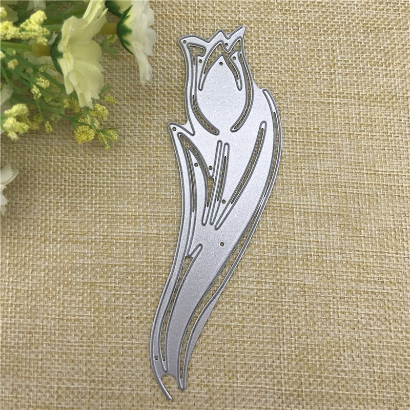 Tulip Edge Border Metal Cutting Dies Stencils Embossing Paper Cards DIY Crafts