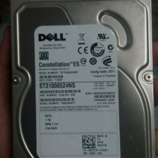 Hardisk brand dell 1terabyte for sale   All is working good   Like new