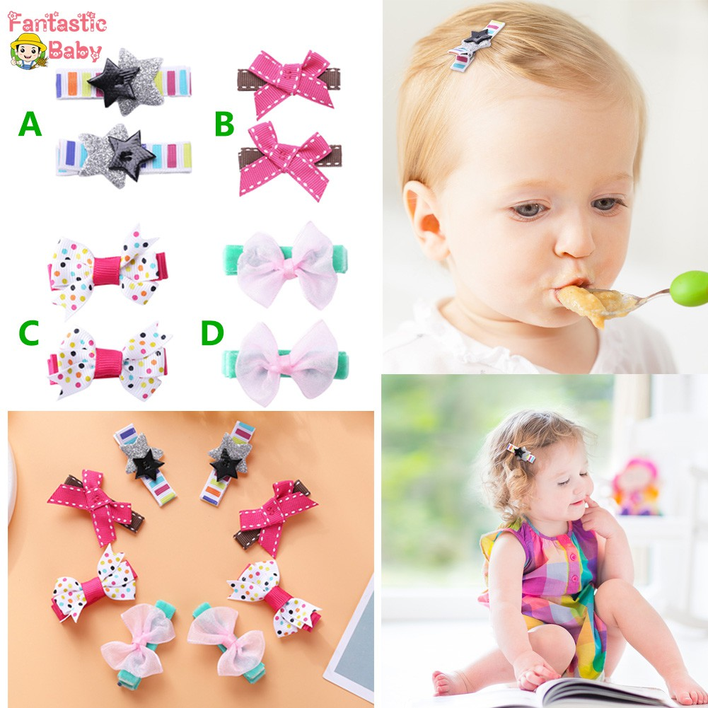 Infant Toddler Baby Girls Bowknot Hairpin Barrette Hair Clip Princess Headdress