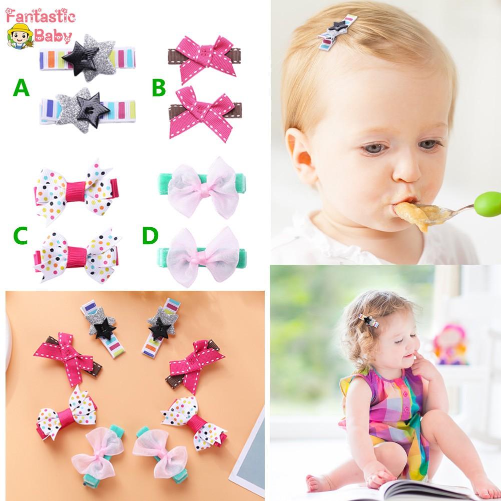 Infant Toddler Baby Girls Bowknot Hairpin Barrette Hair Clip Princess Headdress