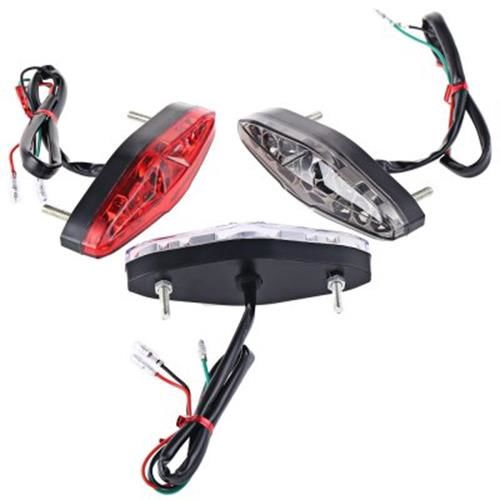15 LEDS 12V MOTORCYCLE TAILLIGHT REFIT BRAKE LIGHT TRAFFIC LAMP