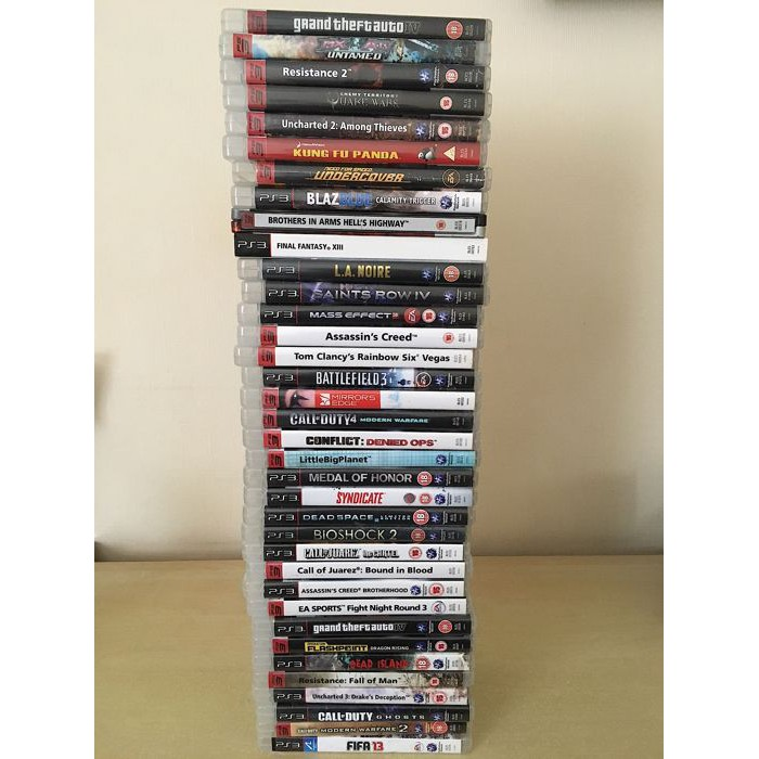 (Second Hand) Ps3 Games Lot 3 Clear Stock