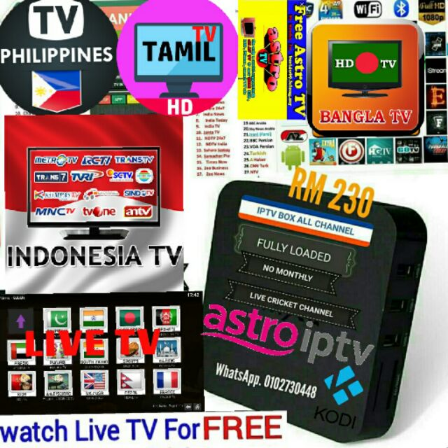 Smart iptv ANDROID tv box 2000+ live CHANNELS and movies and malay Indonesia