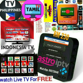 Smart iptv ANDROID tv box 2000+ live CHANNELS and movies and malay