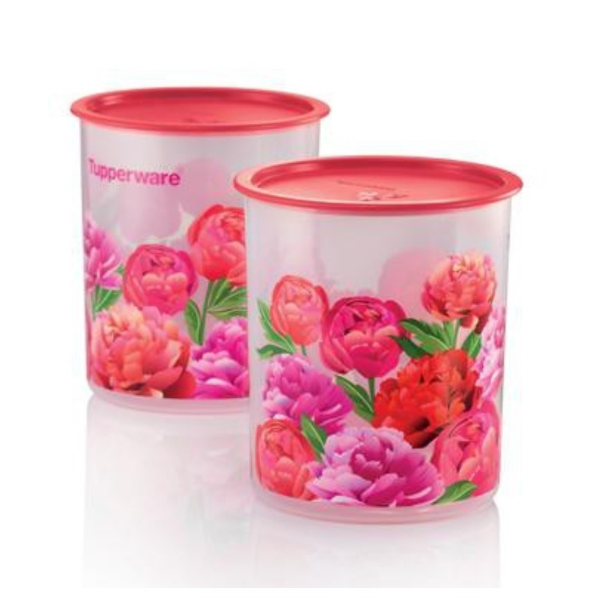 Image result for tupperware Blooming Peonies one Touch canister medium