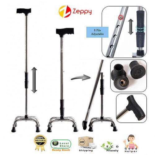 Foldable Walking Stick Led Light Cane Pivot Crutch Cane