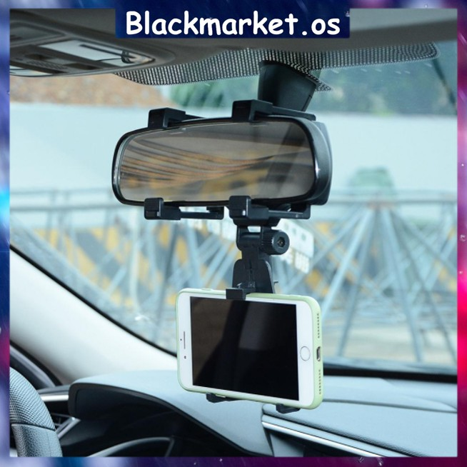 360 Rotating Universal Car Rear View Mirror Mount Car Holder IPhone Samsung Huawei Oppo VIvo