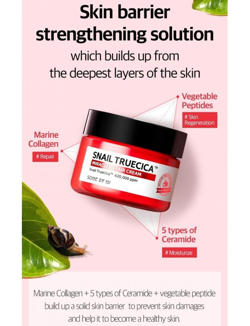 Some By Mi Snail Truecica Miracle Repair Cleanser/ Toner/ Serum/ Cream | Shopee Malaysia