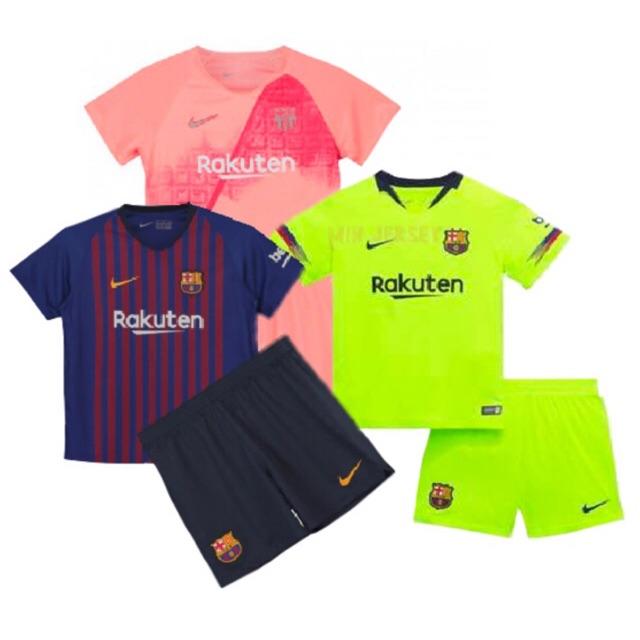 33c26b61eea 18/19 FC Barcelona Kids kit jersey Football Jersi set | Shopee Malaysia