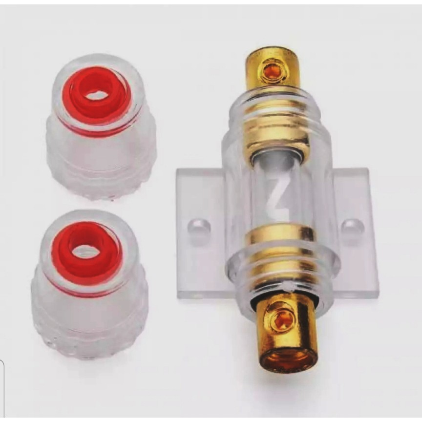 New 60A Gold Plated Fuse Holder Block for Car Subwoofer Audio Amplifier