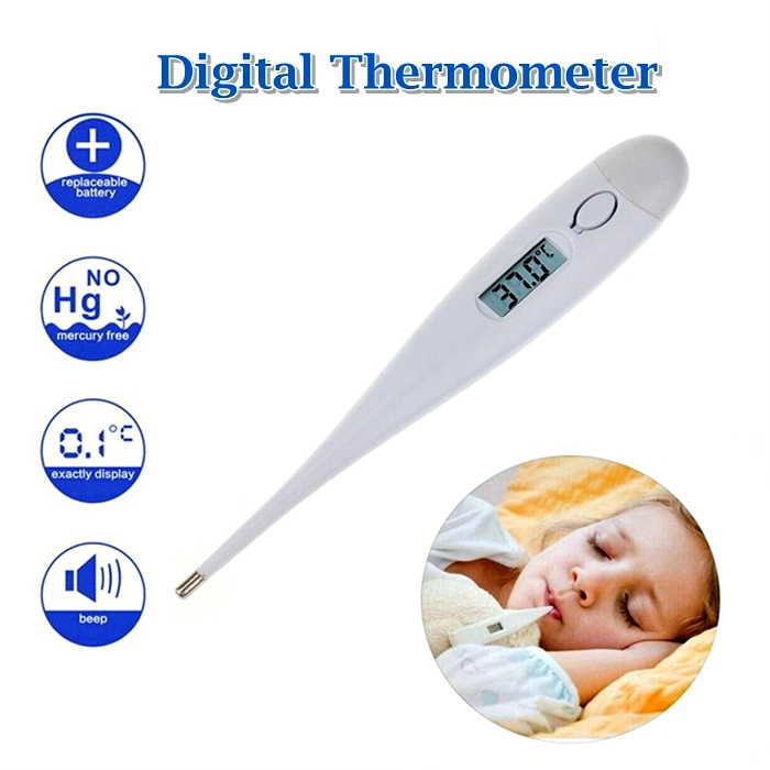 Baby Thermometer Forehead Ear and Armpit, Digital LCD Beeping Sound Reminder