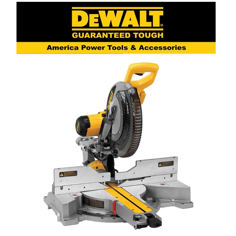 READY STOCK !!!DEWALT DWS780-KR MITER SAW 305MM 1675M SLIDE COMPOUND MITER SAW 3800 RPM EASY USE SAFETY GOOD  QUALITY