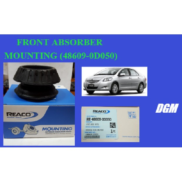 FRONT ABSORBER MOUNTING (48609-0D050) for Toyota Vios NCP93 2007-2013
