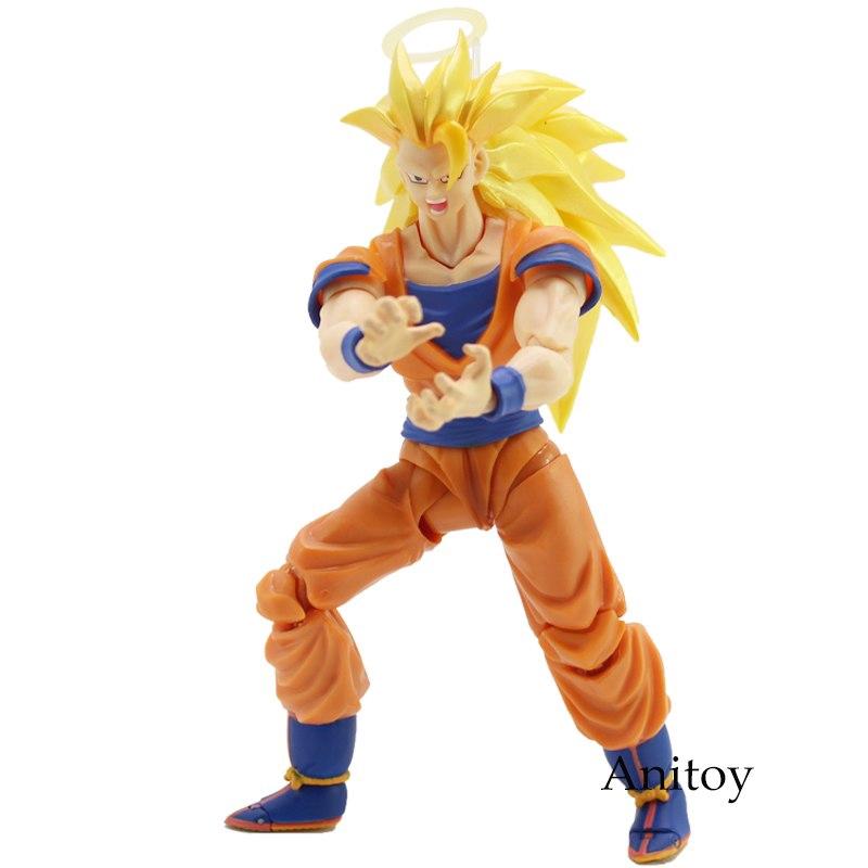 NEW SHF S.H.Figuarts Dragon Ball Z Super Saiyan 3 Son Goku PVC Action Figure