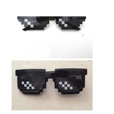 Thug Life Glasses 8 Bit Pixel Deal With IT Sunglasses Eyewear Faddish  Best